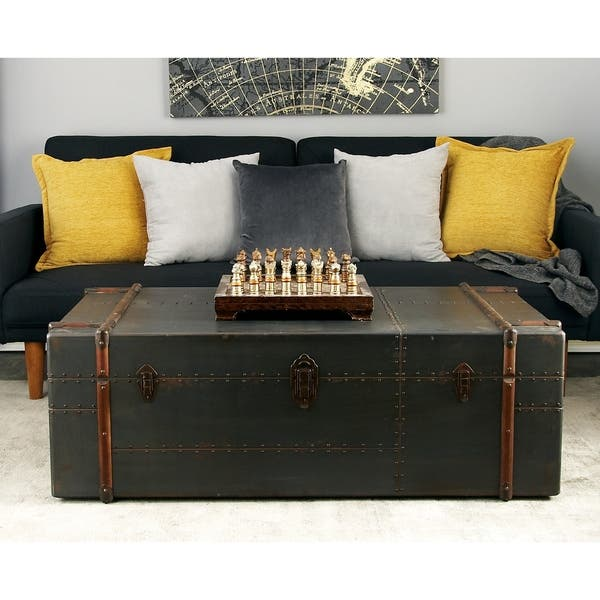 Shop 48 X 17 Wood Chest Coffee Table W Storage Drawers By