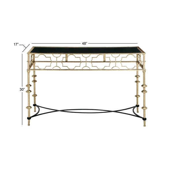 Metal Gl Console Table 48 Inches Wide X 30