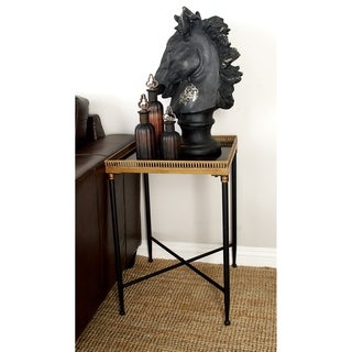Metal Marble Tray Table (17 inches wide x 26 inches high)