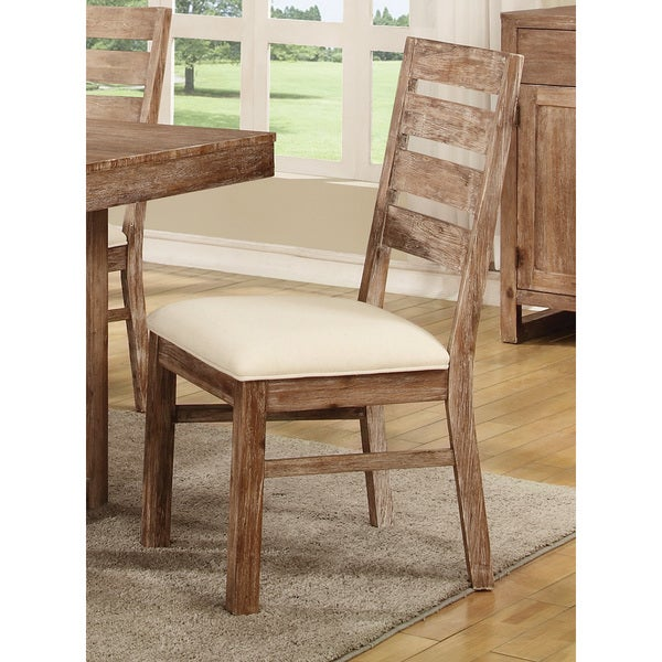Coaster Company Brown Weathered Wood Dining Chair
