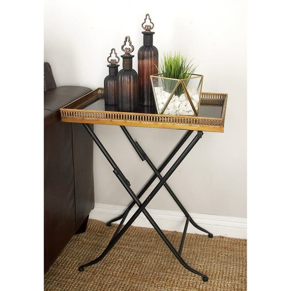 Shop Metal Marble Tray Table (21 inches wide x 25 inches high