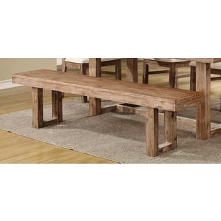 Coaster Company Weathered Tan Acacia Wood Dining Bench