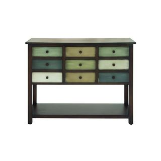 Wood 9 Drawer Console (42 inches wide x 34 inches high)