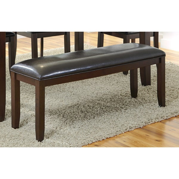Merveilleux Coaster Company Brown Wood And Faux Leather Dining Bench