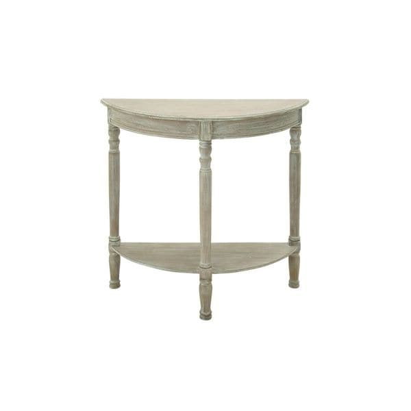 Wood weathered brown half round console table 32 inches for 10 inch wide console table