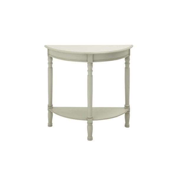 Wood white half round console table 32 inches wide x 32 for 10 inch wide console table