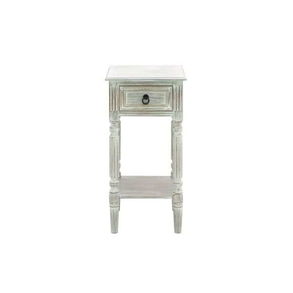Superbe Wood Distressed Side Table (14 Inches Wide X 29 Inches High)