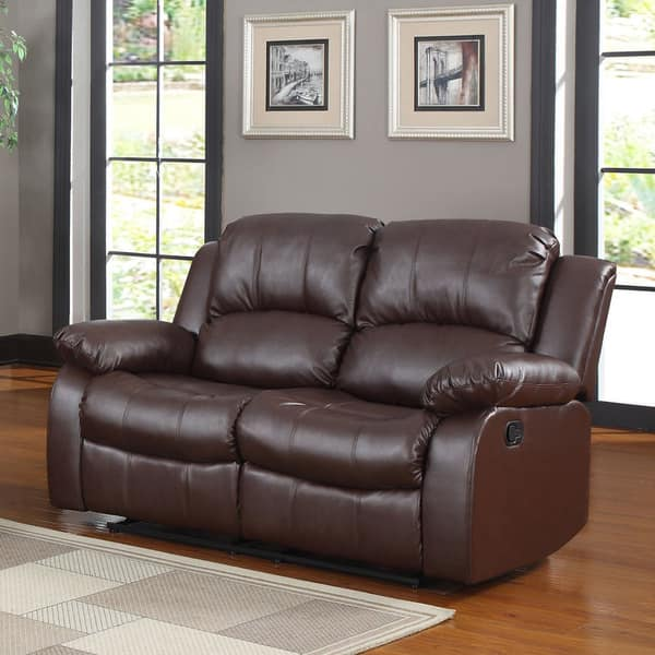 Pleasant Shop Classic Oversize And Overstuffed 2 Seat Bonded Leather Bralicious Painted Fabric Chair Ideas Braliciousco