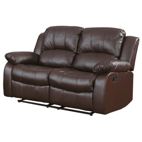 Classic Oversize and Overstuffed 2 Seat Bonded Leather Double Recliner Loveseat - Free Shipping Today - Overstock.com - 19050236  sc 1 st  Overstock.com & Classic Oversize and Overstuffed 2 Seat Bonded Leather Double ... islam-shia.org