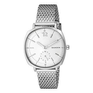 Skagen Women's SKW2402 Rungsted Silver Stainless Steel Mesh Watch|https://ak1.ostkcdn.com/images/products/12203125/P19050218.jpg?impolicy=medium