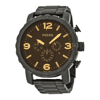 Fossil Men's JR1356 Nate Stainless Steel Chronograph Watch