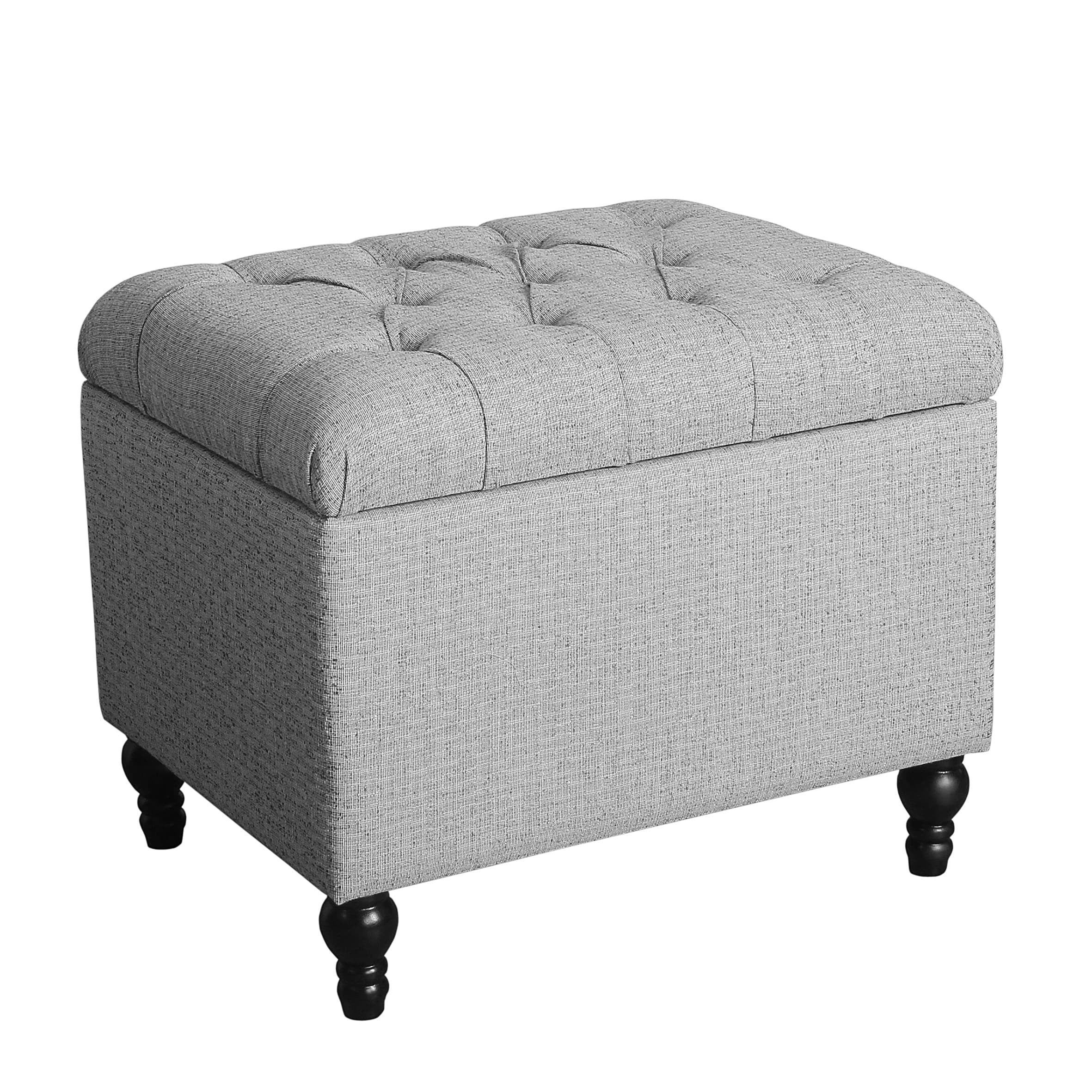 Magnificent Homepop Medium Tufted Storage Ottoman Andrewgaddart Wooden Chair Designs For Living Room Andrewgaddartcom