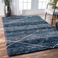 Oliver & James Eder Handmade Diamond Trellis Shag Area Rug (5' x 8')