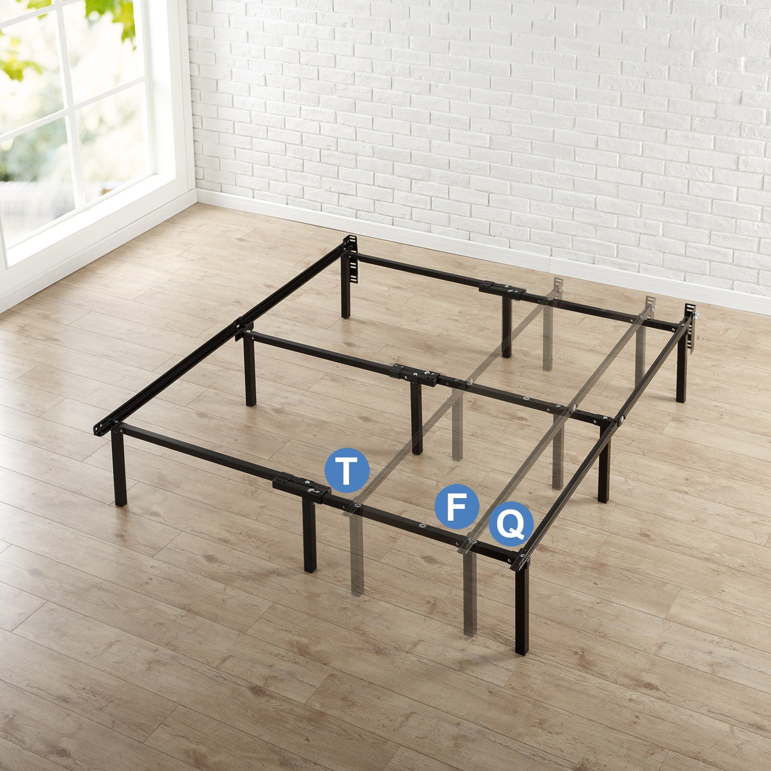 Priage 12-inch Compack Adjustable Bed Frame (Twin, Full, ...