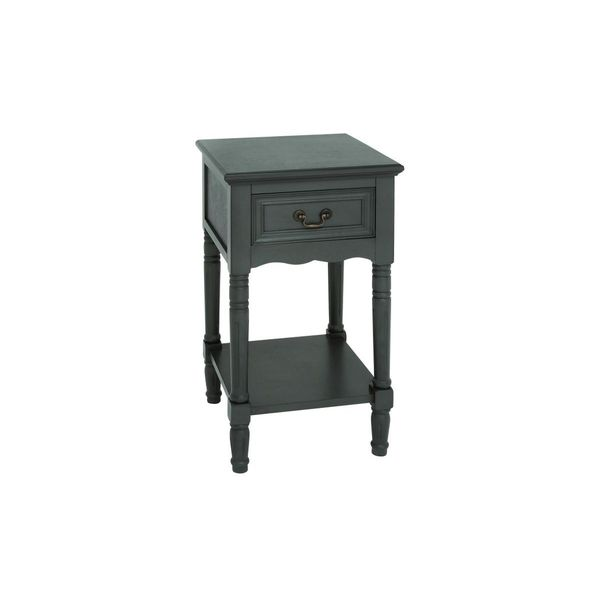 Wood Dark Brown Side Table (16 inches wide x 29 inches high)