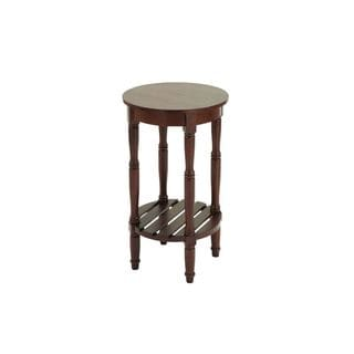 Wood Brown Round Accent Table (16 inches wide x 29 inches high)