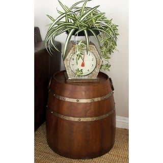 Metal Barrel Accent Table (20 inches wide x 19 inches high)