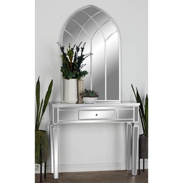 Wood Mirror Console Table 42 Inches Wide X 36