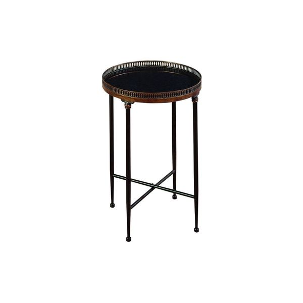 Delicieux Metal Marble Tray Table (26 Inches High X 18inches D)