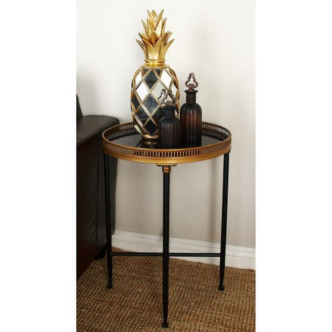 Metal Marble Tray Table (26 inches high x 18inches D)