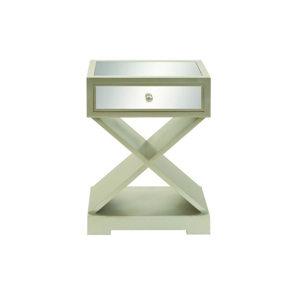 Wood Mirror Side Table 29 Inches High X 20 Inches Wide
