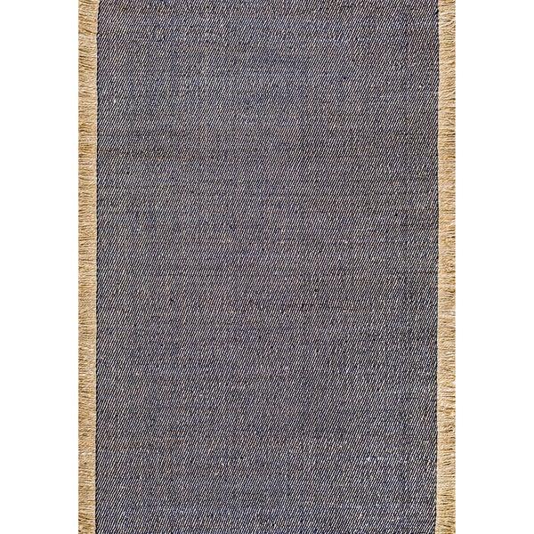 nuLOOM Handmade Flatweave Solid Tassle Blue Rug (3' x 5') - 3' x 5'