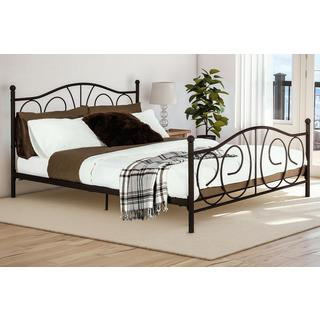 DHP Bronze Victoria Queen Metal Bed