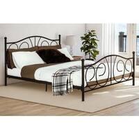 DHP Bronze Victoria Queen Metal Bed