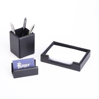 Royce Luxury Genuine Leather Desk Set