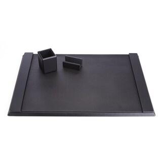 Royce Luxury Black Genuine Leather Desk Set
