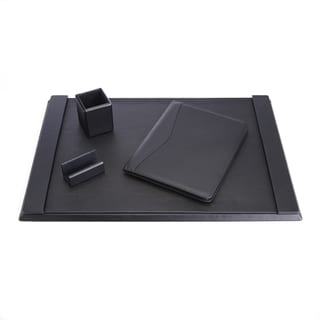 Royce Luxury Genuine Leather Desk Set with Pen Cup Organizer, Writing Padholder, Blotter and Card Holder