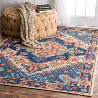 nuLOOM Handmade Traditional Foliage Multi Rug (5' x 8')