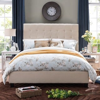 Christopher Knight Home Austin Tufted Fabric Queen Bed Set