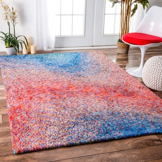 nuLOOM Handmade Contemporary Abstract Waves Multi Rug (7'6 x 9'6)
