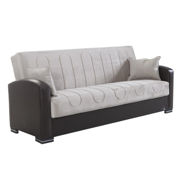 Microfiber Futon Sofa Bed With Storage