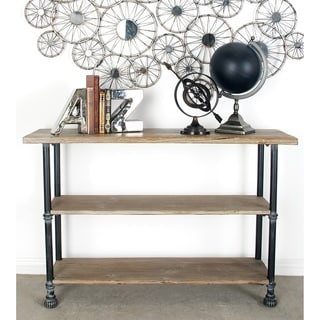 Wood Metal Console (48 inches wide x 32 inches high)