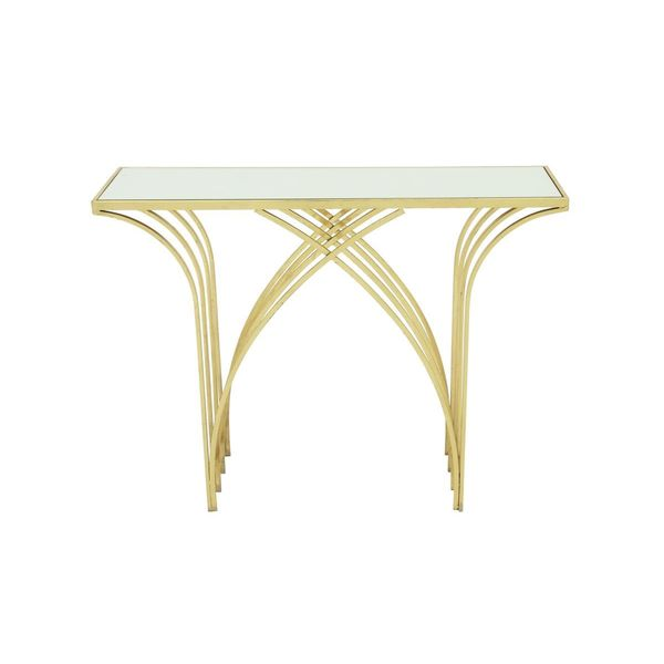 Metal mirror console table 41 inches wide x 31 inches for 10 inch wide console table