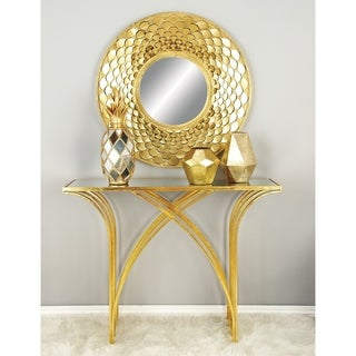 Metal Mirror Console Table (41 inches wide x 31 inches high)