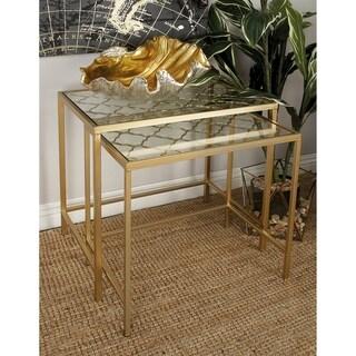 Metal Glass Nest Table (Set of 3)
