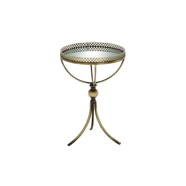 Metal mirror tray table 16 inches wide x 24 inches high for Coffee tables 16 inches high