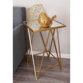 Metal Mirror Accent Table (Set of 2)