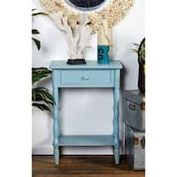 Wood Matte Blue Side Table (22 inches wide x 31 inches high)