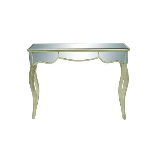 Wood mirror console table 49 inches wide x 37 inches high for Sofa table 50 inches