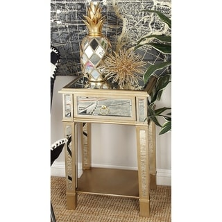 Wood Mirror Side Table (18 inches wide x 27 inches high)