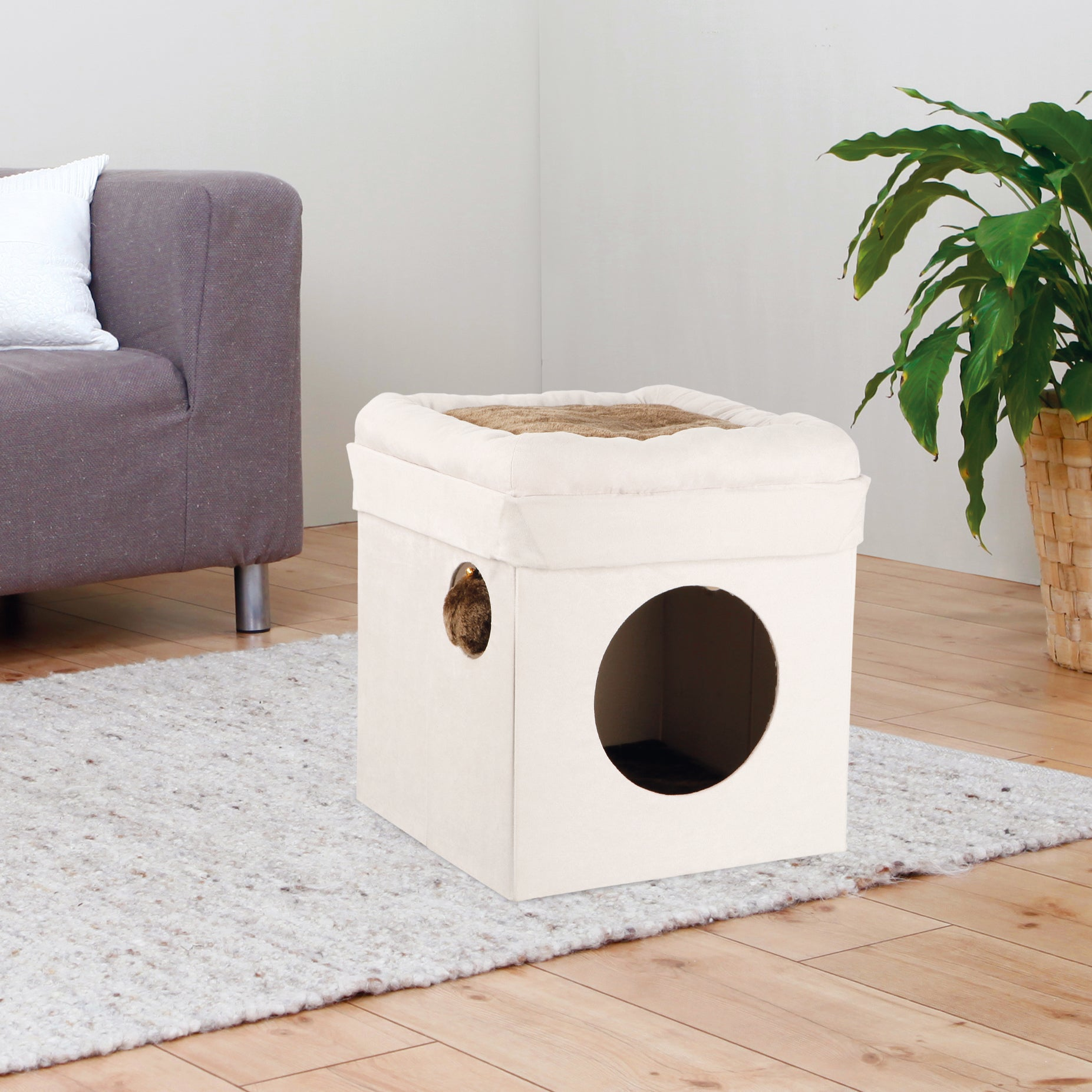 Trixie Miguel 'Fold-and-Store' Collapsible Cat House & Co...