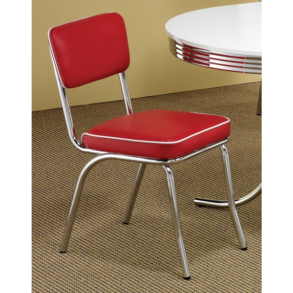 43178a9f9e279 Shop Carson Carrington Hrafnagil Red Chrome Plated Retro Dining Chair (Set  of 2) - On Sale - Free Shipping Today - Overstock - 20470271