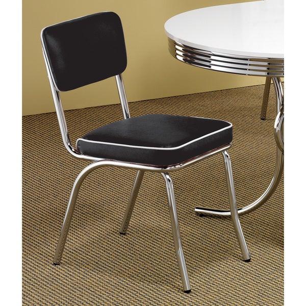 Coaster Company Black Chrome Plated Retro Dining Chair