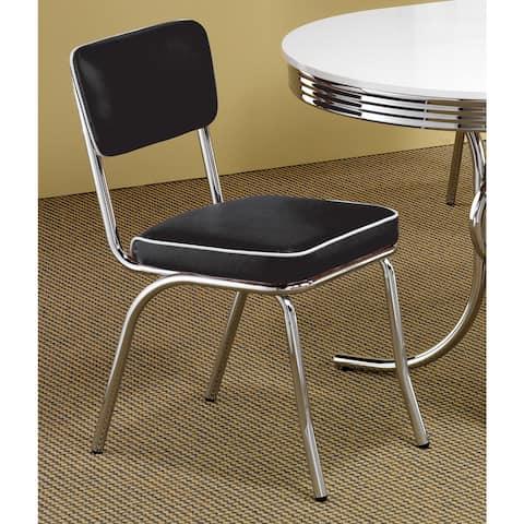 Coaster Company Black Chrome Plated Retro Dining Chair (Set of 2)