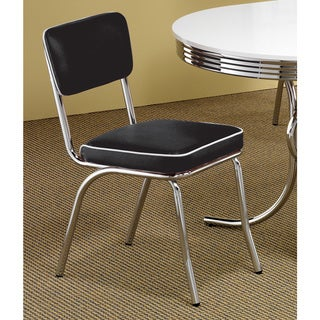 Coaster Company Black Chrome Plated Retro Dining Chair
