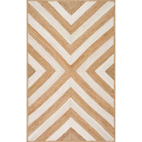 nuLOOM Natural Patterned Chevron Jute Area Rug